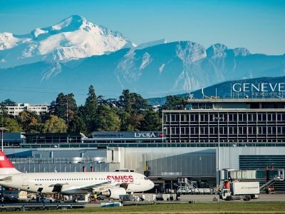 Аэропорт Женевы Куантран (Geneva International Airport, Cointrin Airport). Фото: Loris von Siebenthal